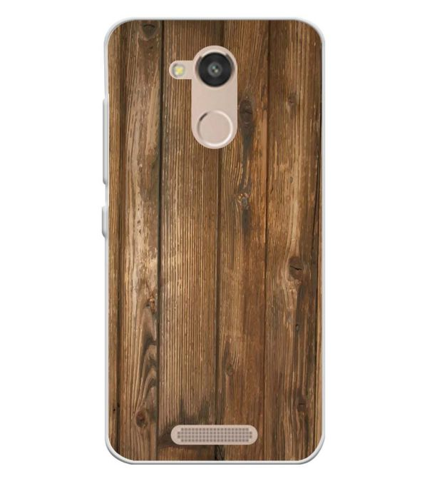 Wooden Pattern Soft Silicone Back Cover for InFocus Turbo 5s