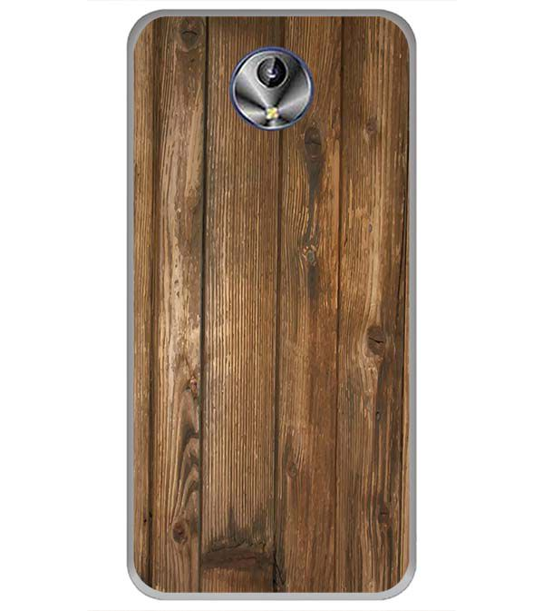 Wooden Pattern Back Cover for Intex Amaze+