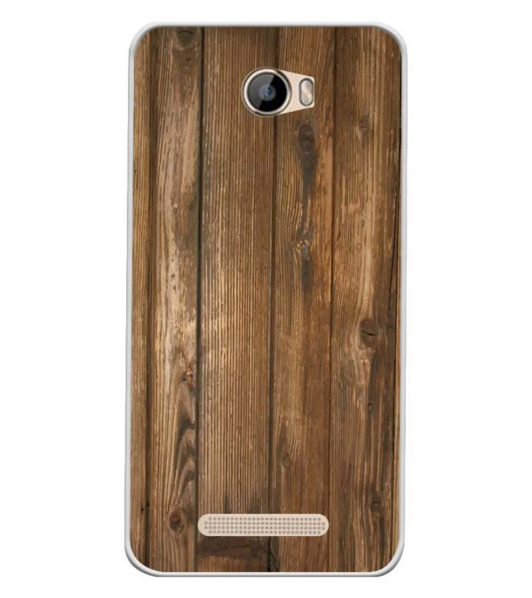 Wooden Pattern Soft Silicone Back Cover for Intex Aqua 5.5 VR