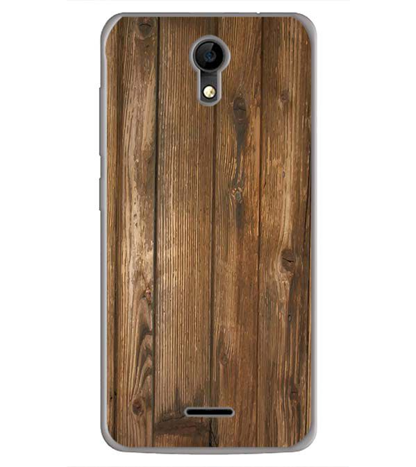 Wooden Pattern Back Cover for iVOOMi Me 4