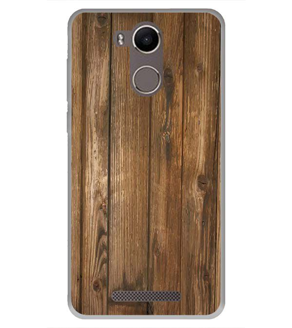 Wooden Pattern Back Cover for Karbonn K9 Kavach 4G