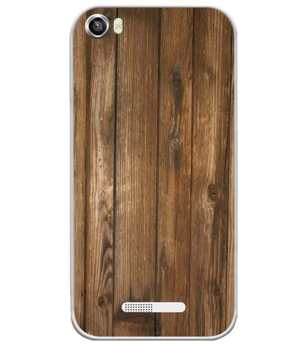 Wooden Pattern Soft Silicone Back Cover for Lava Iris X8