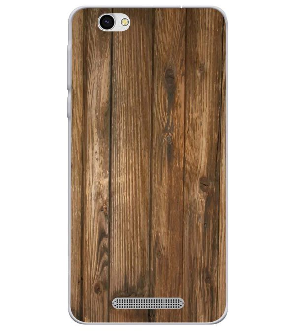 Wooden Pattern Soft Silicone Back Cover for Lava X28