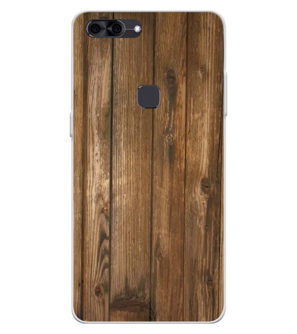 Wooden Pattern Soft Silicone Back Cover for Lava Z90