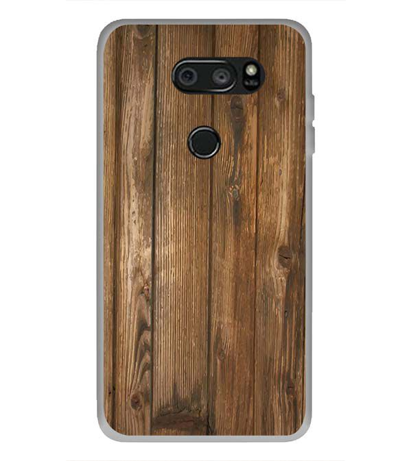 Wooden Pattern Back Cover for LG V30 Plus