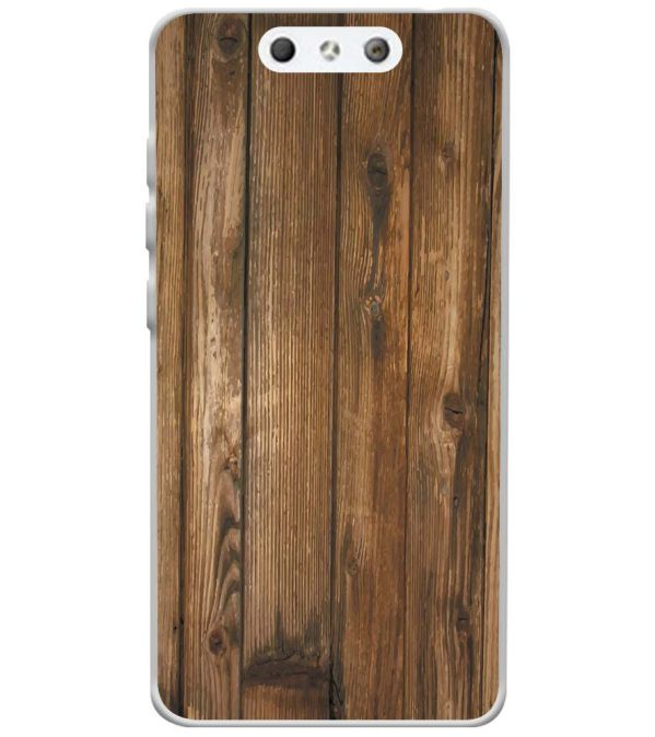 Wooden Pattern Soft Silicone Back Cover for LYF Earth 1