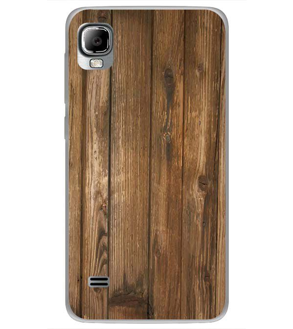 Wooden Pattern Back Cover for LYF Flame 3