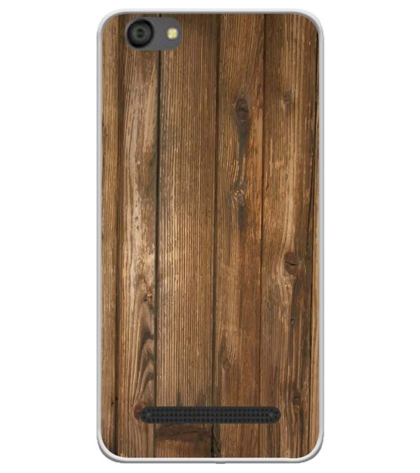 Wooden Pattern Soft Silicone Back Cover for LYF Flame 5
