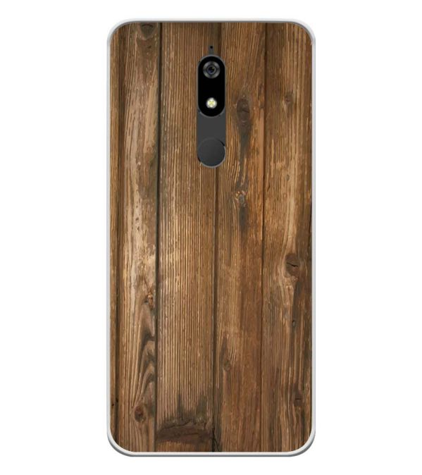 Wooden Pattern Soft Silicone Back Cover for Micromax Canvas Infinity Pro