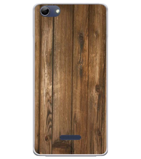 Wooden Pattern Soft Silicone Back Cover for Micromax Selfie 3 Q348