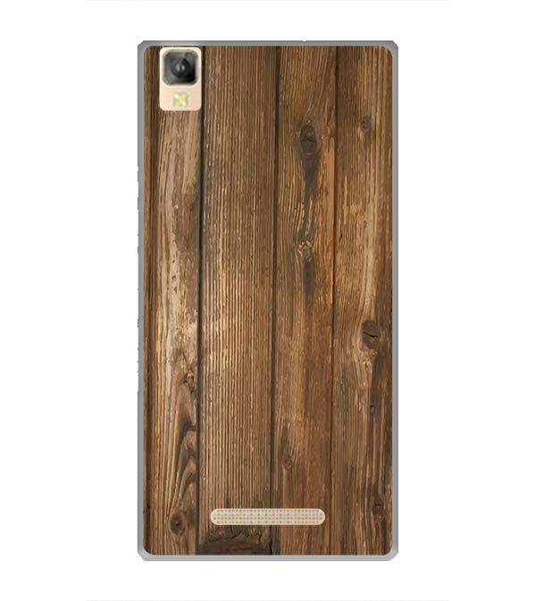 Wooden Pattern Back Cover for Panasonic Eluga A2