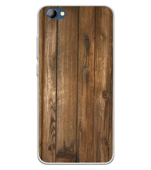 Wooden Pattern Soft Silicone Back Cover for Panasonic Eluga I4
