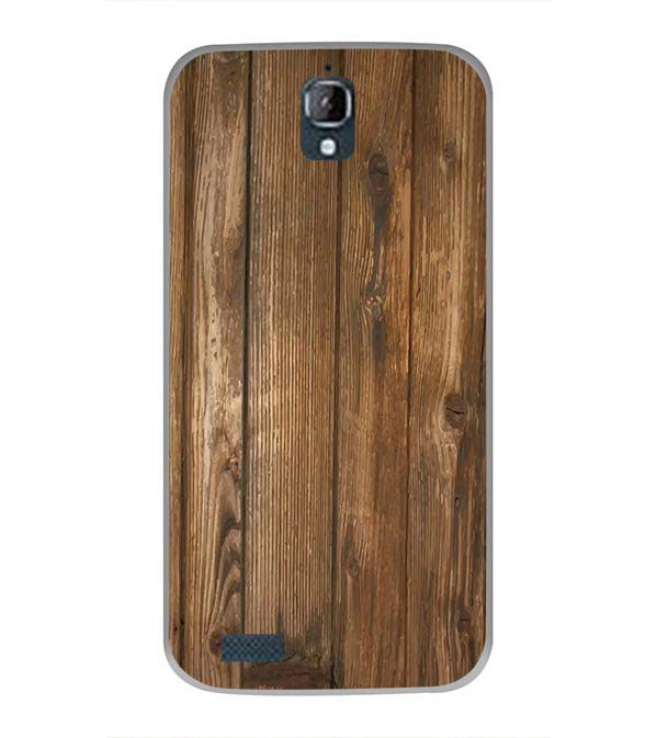 Wooden Pattern Back Cover for Panasonic Eluga Icon
