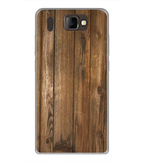 Wooden Pattern Back Cover for Panasonic P66 Mega