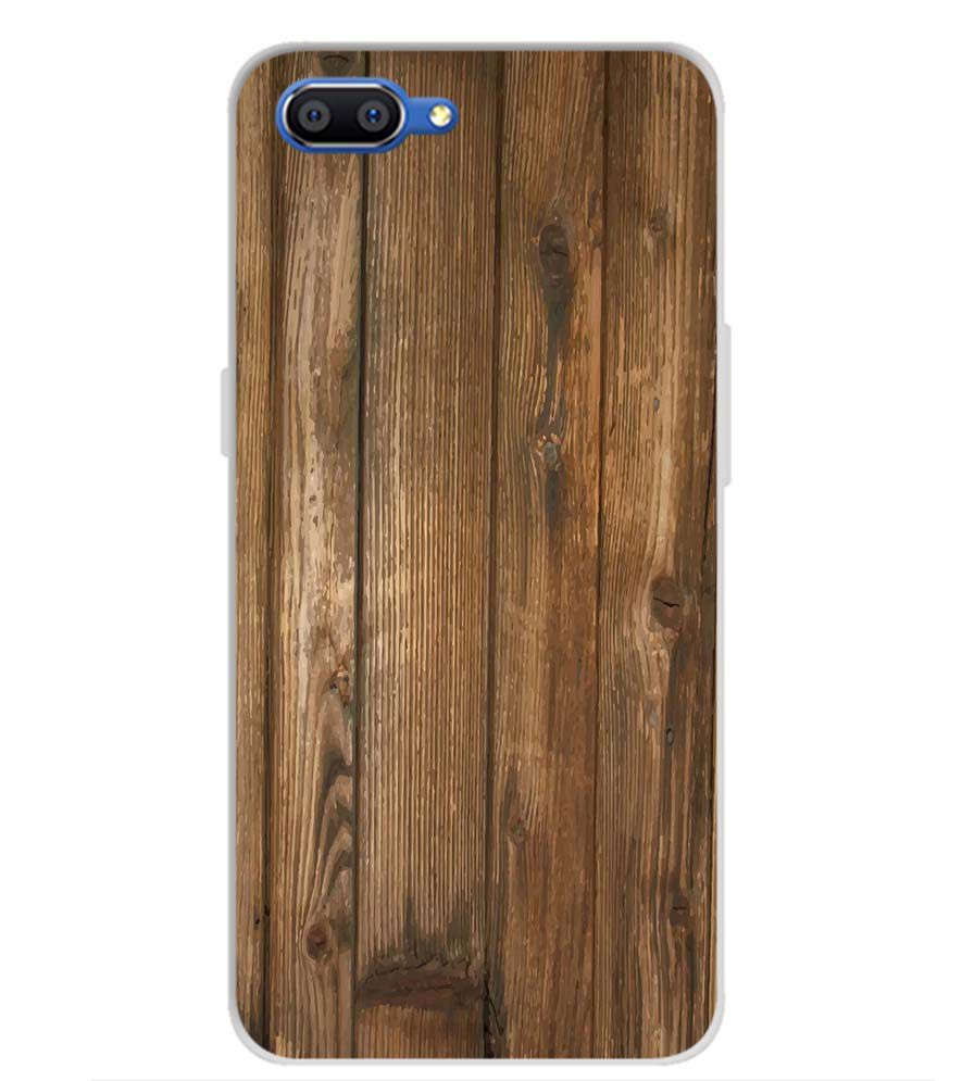 Wooden Pattern Back Cover for Realme C1 (2019)
