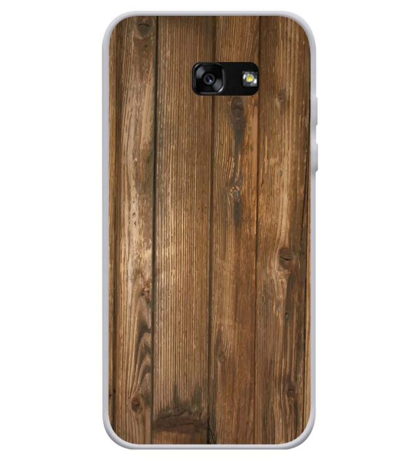 Wooden Pattern Soft Silicone Back Cover for Samsung Galaxy A3 (2017)