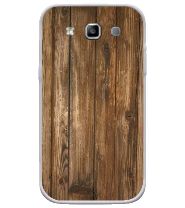 Wooden Pattern Soft Silicone Back Cover for Samsung Galaxy Grand Quattro 8552
