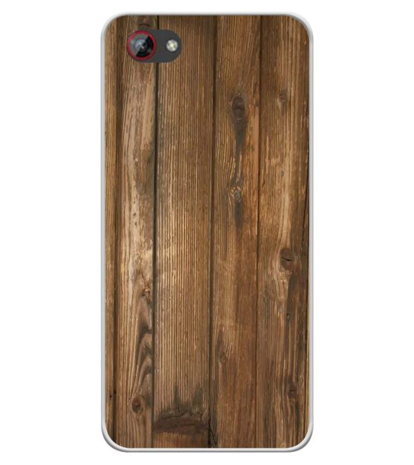 Wooden Pattern Soft Silicone Back Cover for Spice F301