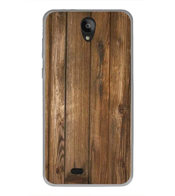 Wooden Pattern Back Cover for Swipe Konnect Plus