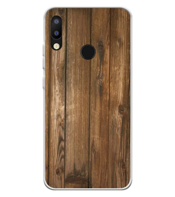 Wooden Pattern Soft Silicone Back Cover for Tecno Camon i2