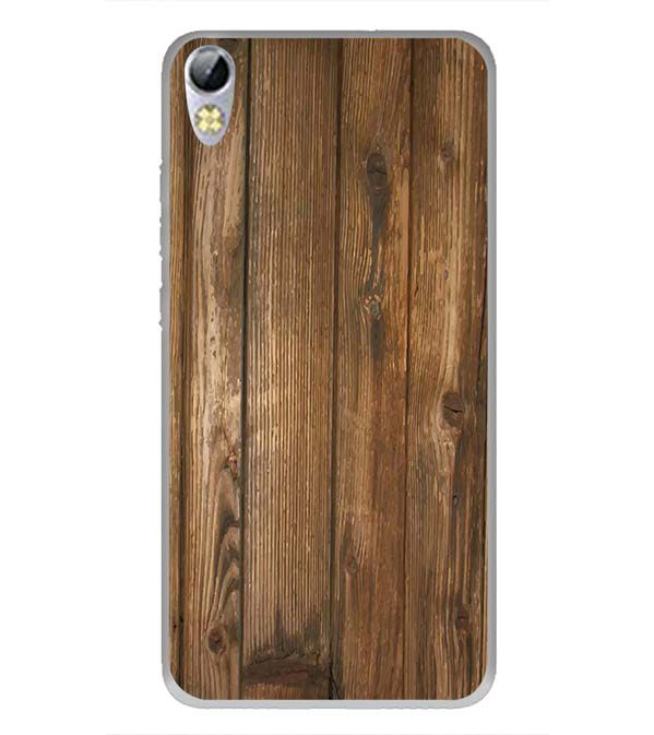 Wooden Pattern Back Cover for Tecno I3 Pro