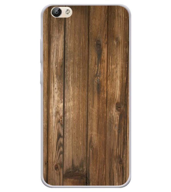 Wooden Pattern Soft Silicone Back Cover for Vivo Y66