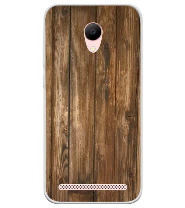 Wooden Pattern Soft Silicone Back Cover for Voto V2