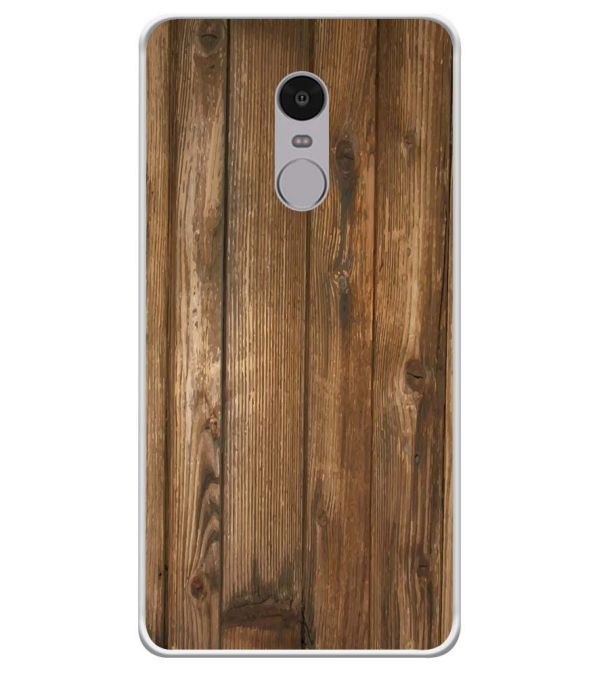 Wooden Pattern Soft Silicone Back Cover for Xiaomi Redmi Note 4