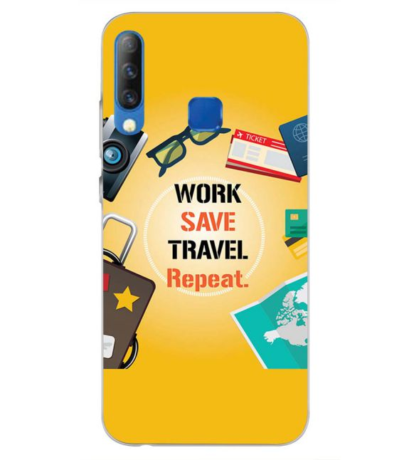 Work. Save. Travel. Repeat Back Cover for Infinix S4-Image3