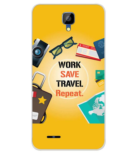 Work. Save. Travel. Repeat Back Cover for Karbonn Aura Champ-Image3