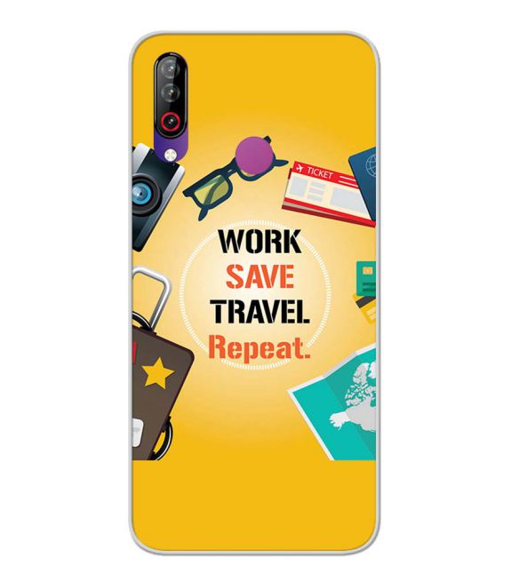 Work. Save. Travel. Repeat Back Cover for LG W30-Image3