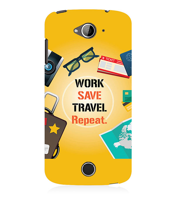 Work. Save. Travel. Repeat Back Cover for Acer Liquid Zade 530
