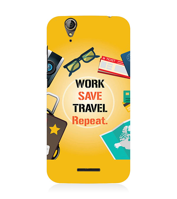 Work. Save. Travel. Repeat Back Cover for Acer Liquid Zade 630