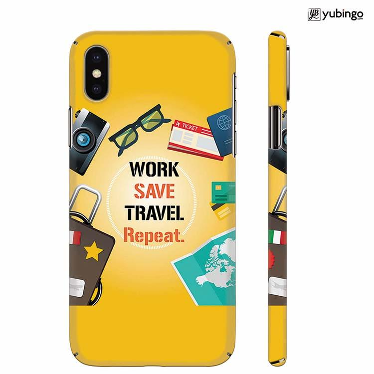 Travel Lover Collection Back Cover for Apple iPhone X