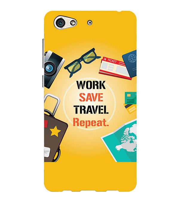 Work. Save. Travel. Repeat Back Cover for Gionee S10