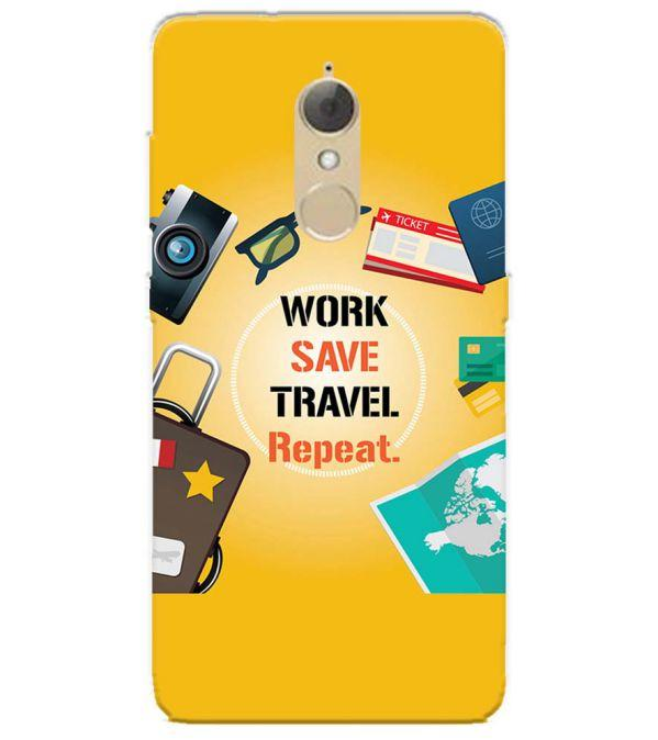 Work. Save. Travel. Repeat Back Cover for Lenovo K8