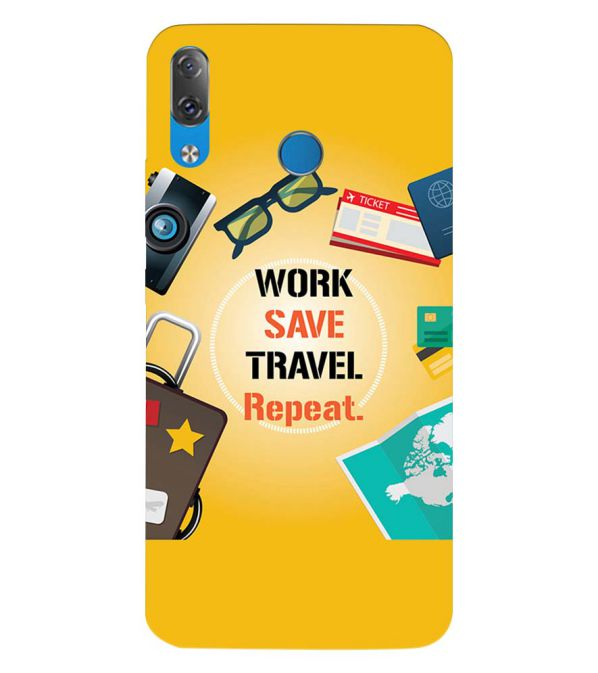 Work. Save. Travel. Repeat Back Cover for Lenovo Z5
