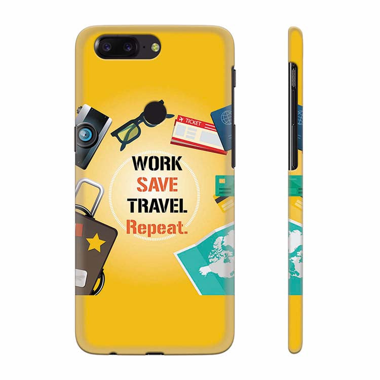 Work. Save. Travel. Repeat Back Cover for OnePlus 5T