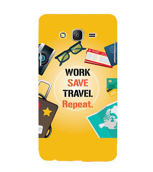 Work. Save. Travel. Repeat Back Cover for Samsung Galaxy On5 and On5 Pro
