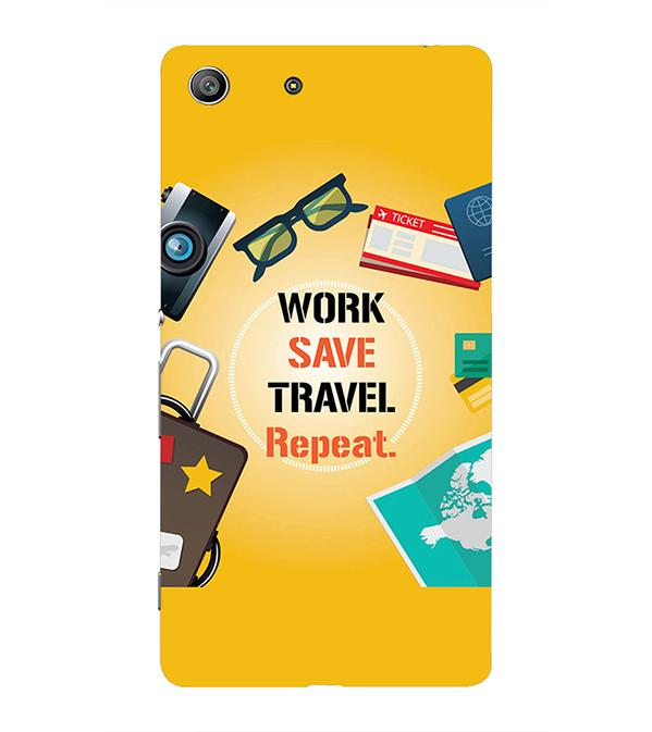Work. Save. Travel. Repeat Back Cover for Sony Xperia Z3