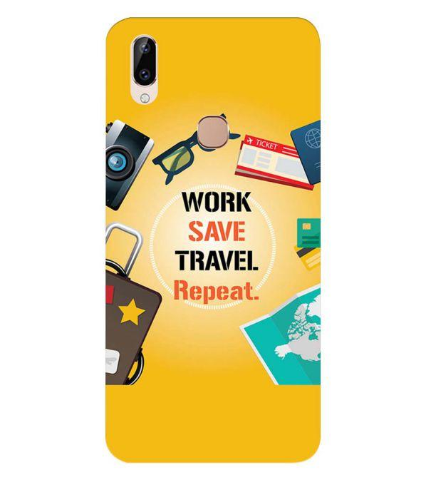 Work. Save. Travel. Repeat Back Cover for Vivo Y83 Pro