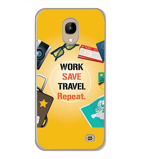 Work. Save. Travel. Repeat Back Cover for InFocus A2