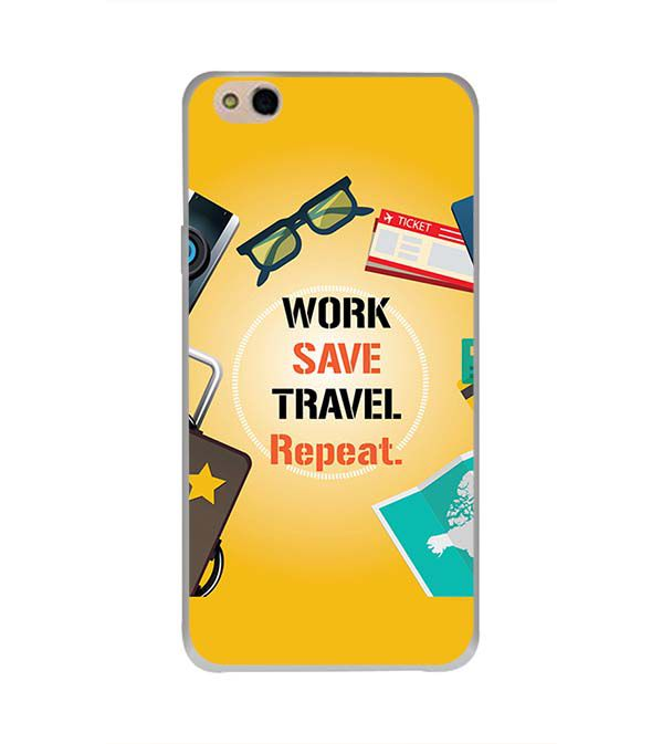 Work. Save. Travel. Repeat Back Cover for InFocus Bingo 50 Plus