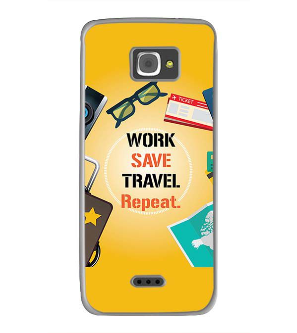 Work. Save. Travel. Repeat Back Cover for InFocus M350