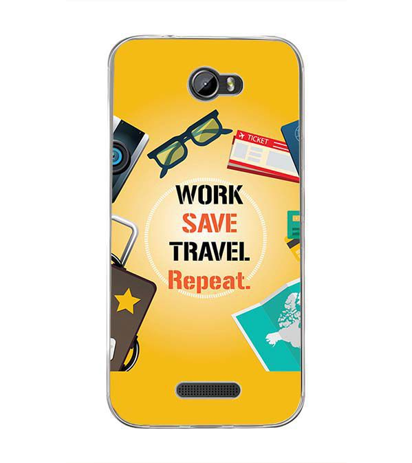 Work. Save. Travel. Repeat Back Cover for Intex Lion 3