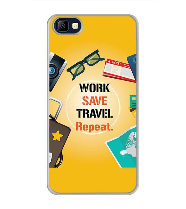Work. Save. Travel. Repeat Back Cover for Karbonn K9 Smart Selfie
