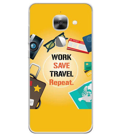 Work. Save. Travel. Repeat Back Cover for LeEco Le 2s-Image3