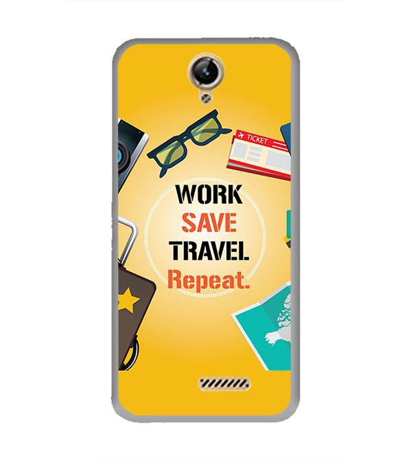 Work. Save. Travel. Repeat Back Cover for Lephone W10