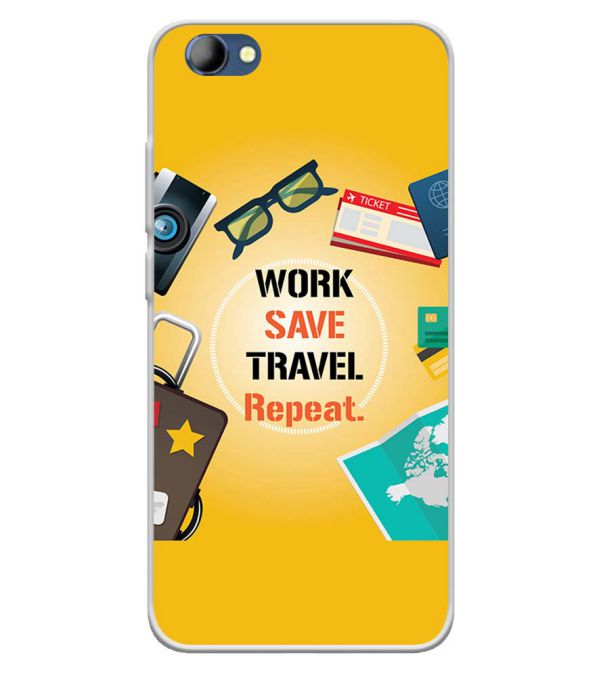 Work. Save. Travel. Repeat Soft Silicone Back Cover for Panasonic Eluga I4