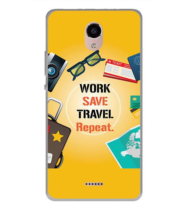 Work. Save. Travel. Repeat Back Cover for Panasonic Eluga RayX